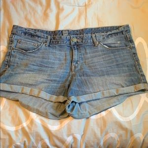 mossimo blue jean shorts size 16